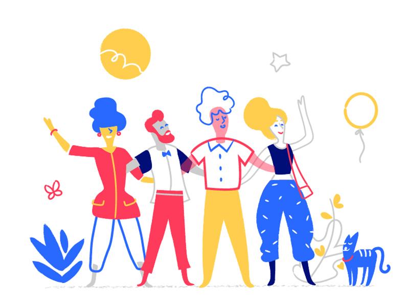 Crazy Team illustration by Hurca!