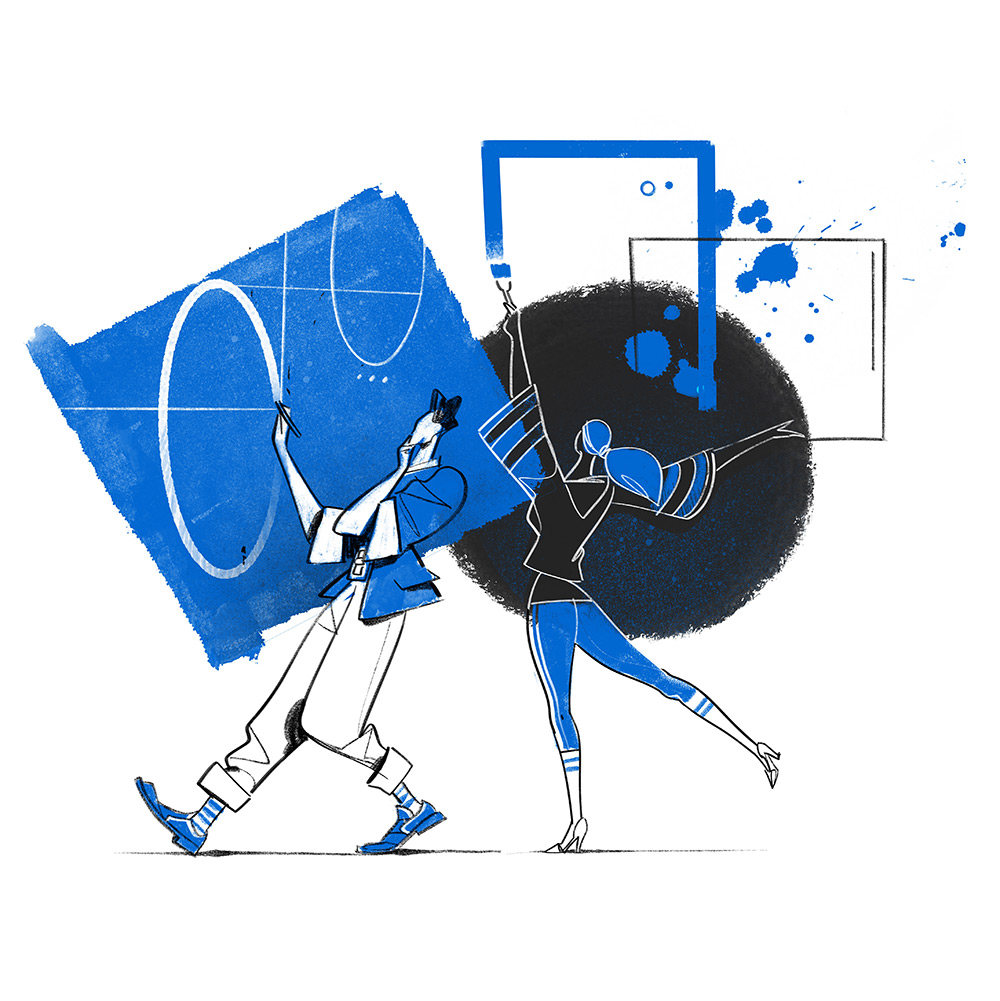 Creative Stream  illustration by Hurca!