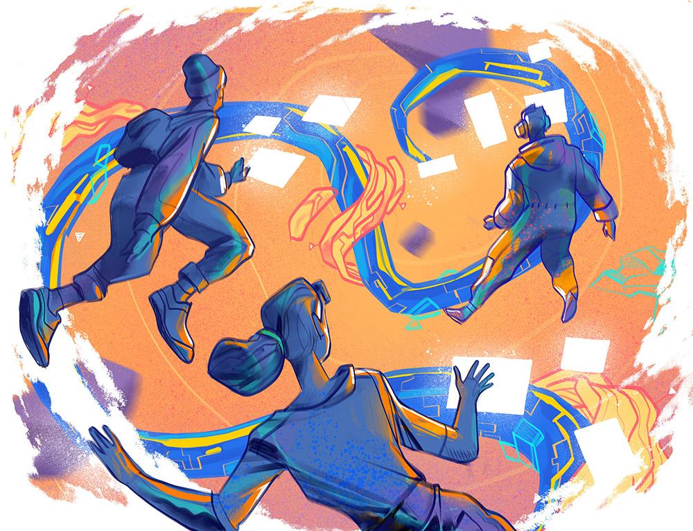 Main Stream Illustration Art by Hurca!