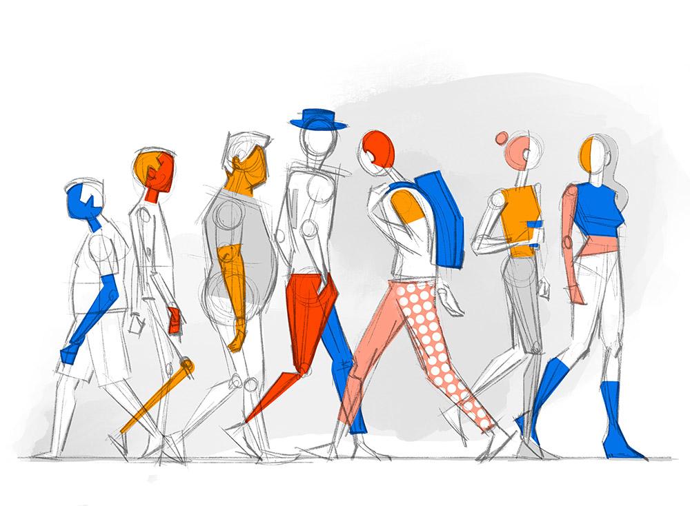 Street Walking Illustration by Hurca!