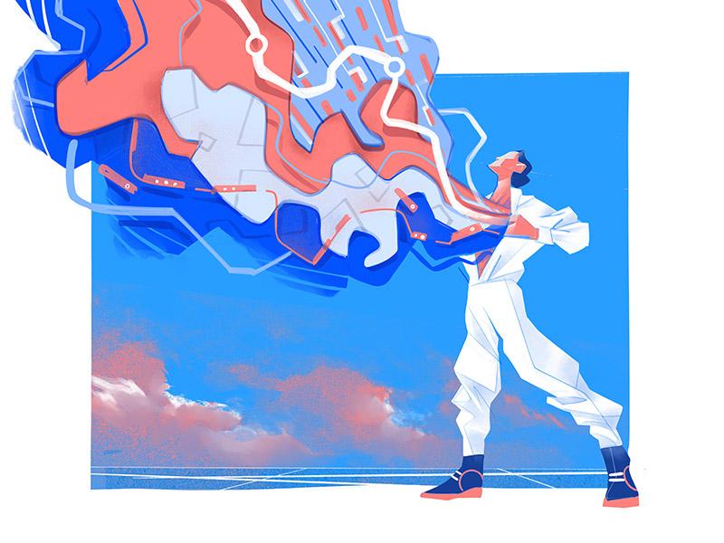 Super Ego Illustration by Hurca!