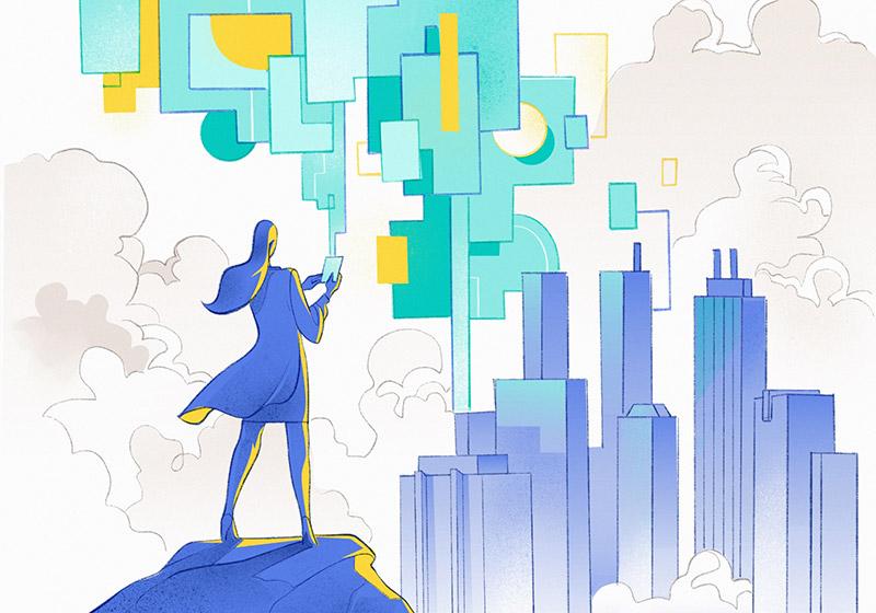 Big Data Manager Illustration by Hurca!