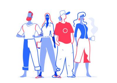 Flat Team Illustration by Hurca!